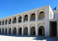 Qasr al-Hosn Fort, a historical landmark in Abu Dhabi, UAE. Clear Sunny day 12 March 2020