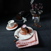 Delicious homemade juicy chocolate cake
