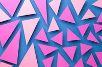 Abstract Composition With Pink Triangular Paper Shapes