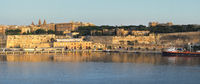 The view of Valletta capital city in the early morning. Malta