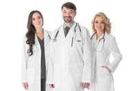 Medical team of doctors isolated