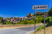 Sorano medieval town in Tuscany Italy