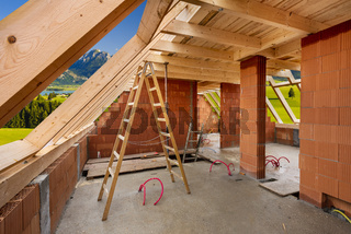 Neubau von einem Einfamilienhaus mit Handwerk