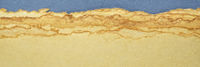 abstract landscape in blue and yellow pastel tones
