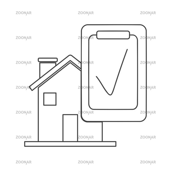 Home Inspection Icon Vector