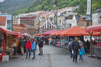 The famous Bergen fish market which is located at the City's harbor, many tourists and locals frequently visit this area place