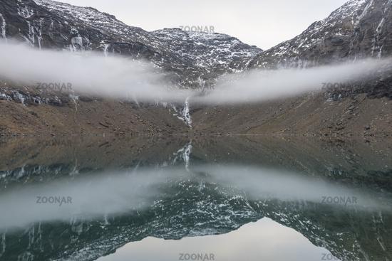 Nebelstimmung, Trollsjoen, Lappland
