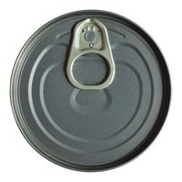 food tin can isolated over white