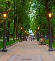 Volodymyrska Hill people park Kiev