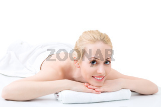Young woman have day spa in beauty and massage salon