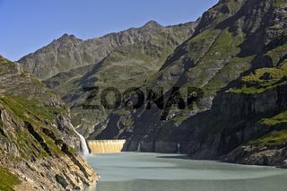 Mauvoisin Stausee, Val de Bagnes, Wallis, Schweiz