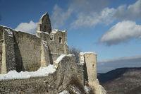 ruins hohenurach in Bad Urach, swabian alb, germany