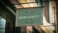 Street Sign to BRAND QUALITY