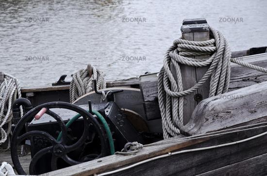 Fischerboot Holz Detail
