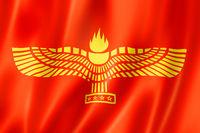 Syriac-Aramaic People ethnic flag