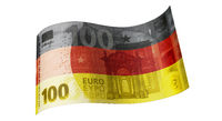 100 Euro Schein in Schwarz Rot Gold