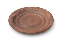 Empty old clay plate