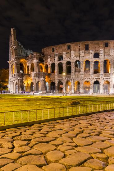 Altes römisches Straßenpflaster,  Kolosseum