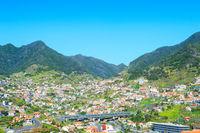 Maderia village city mountains skyline