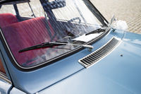 Windbreak of a classic car
