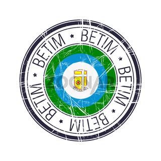 City of Betim, Brazil vector stamp