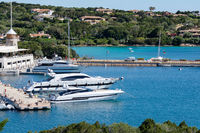 View of the marina at Porto Cervo Sardinia