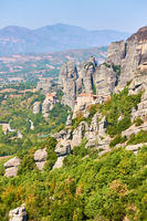 Cliffs of Meteora in Greece