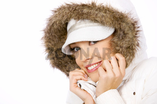 Pretty woman in winter fashion