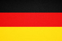 german flag of germany print on leather texture