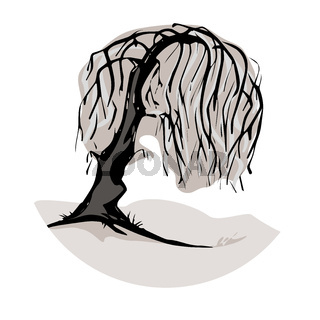 A weeping willow tree symbol
