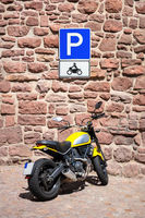 motorbike parking sign germany