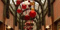 Weihnachtsbeleuchtung am Hamburger Hof in der Hamburger Innenstadt