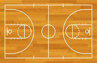 Basketball fireld with markings and wood texture. Vector Basketball fireld with markings and wood texture. Vector
