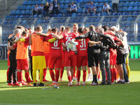 Teambesprechung vom Hallescher FC DFB 3.Liga Saison 2020-21