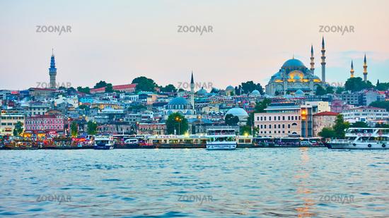 Eminonu quayside in Istanbu