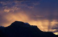 Sunset above Geiranger