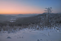 Winterabend im Bayerwald,Deutschland