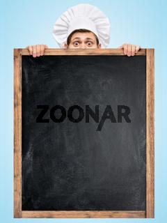 Blackboard for menu.