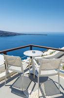 Relaxing in Santorini, Greece