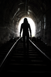 Man At End of Tunnel