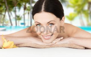 smiling woman in spa salon