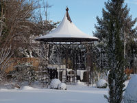 Pavillon im Winter