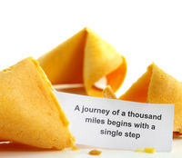 Fortune cookie journey proverb