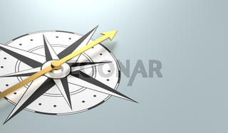 A compass with copy space - 3d rendering