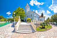 Crikvenica. Church of the Assumption of the Blessed Virgin Mary and Crikvenica waterfront view
