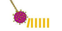 Coronavirus as a wrecking ball pushing the first domino triggering a chain reaction - for corona crisis, spread infection, market crash, crash, shutdown, breakout, meltdown