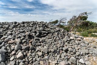Prähistorische Hügelgräber in Mølen bei Larvik