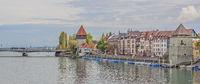 Seerhein mit Rheintorturm und Pulverturm, Konstanz