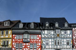 Fachwerkhäuser auf dem Marktplatz in Bad Camberg, Hessen, Deutschland