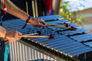Glockenspiel at traditional music event